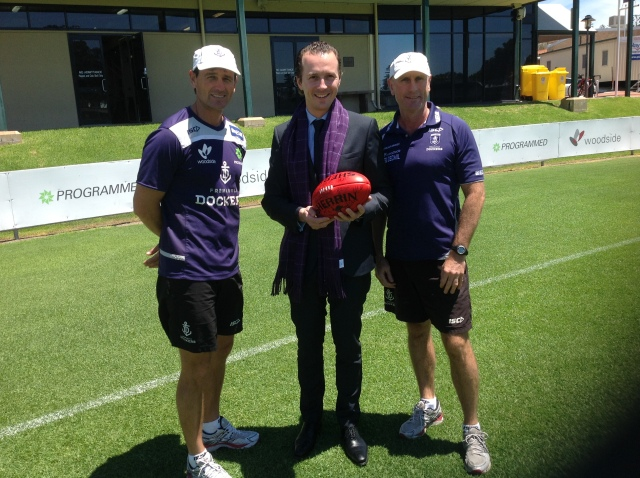 Tanguy Mulliez and the australian football team the Dockers